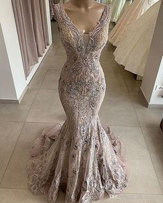 2019 Lace Beaded Sexy African Dubai Evening Dresses Deep V Neck Mermaid Backless Prom Dresses Vintage Formal Party Bridesmaid Pageant Gowns Consignment Prom Dresses Crazy Prom Dresses From Chic cheap 223 12 Cream Prom Dresses, Orange Prom Dresses, Top Wedding Dresses, Backless Prom Dresses, Homecoming Dresses, Party Dresses, Evening Dresses Uk, Long Sleeve Evening Dresses, Mermaid Evening Dresses