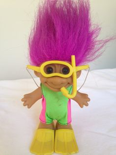 Hey, I found this really awesome Etsy listing at https://www.etsy.com/listing/204557530/russ-snorkel-swim-troll-doll-vintage
