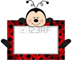 Illustration of Lovely Ladybird With Bank Label vector art, clipart and stock vectors. Foam Crafts, Preschool Crafts, Diy And Crafts, Crafts For Kids, Ladybug Crafts, Ladybug Party, Cumpleaños Lady Bug, Red Classroom, Party Photo Frame
