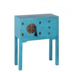 Mueble Chino Consola Azul Oriente 3 Cajones                                                                                                                                                                                 Más