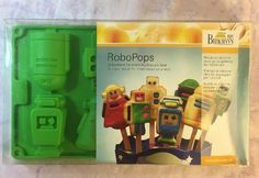Robo Pops by Birkmann Silicone Molds Cakes on a Stick - New Unopened #Birkmann