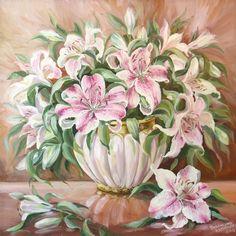 Картины - Цветы - Лилии (Холст, масло)