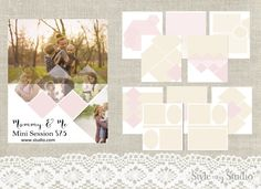 10 Photography Collage Templates by Style My Studio on Creative Market