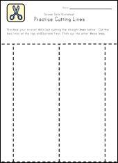Scissor Skills Worksheets for Kids