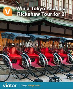 Take sightseeing to another level when in ‪#‎Japan‬! Enter our ‪#‎giveaway‬ for a chance to win a ‪#‎Tokyo‬ Asakusa Rickshaw tour