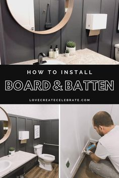Build your own DIY Board and Batten wall! This beginner tutorial includes a video of how to measure spacing, how to choose trim, and how to install! Diy Home Decor Easy, Diy Room Decor, Bedroom Decor, Wall Decor, Home Renovation, Home Remodeling, Wainscoting Bedroom, Shiplap Bathroom, Black Accent Walls