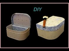 Maletín de carton, organizador maquillaje, costurero...DIY - YouTube