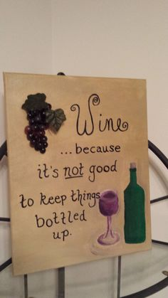 Not Good to Keep Things Bottled Up by PaintedGrapeofCincy on Etsy