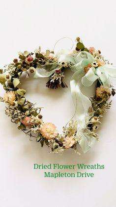 Dried Flower Wreaths, Dried Flowers, Tulle Wreath, Floral Wreath, Hanbok Wedding, Heart Wreath, Valentine Wreath, Easter Wreaths, Summer Wreath