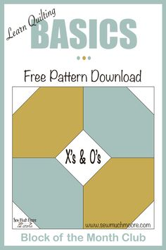 The Hugs and Kisses Quilt block is a fun and versatile block! Get the materials list and free pattern here to start! Quilting Templates, Quilt Block Patterns, Quilting Tips, Quilting Tutorials, Pattern Blocks, Machine Quilting, Quilting Projects, Quilt Blocks, Craft Projects