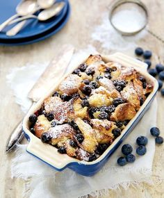 Blueberry Lemon Bread Pudding -> recipes from our #SummerFun issue