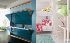 cama embutida na parede para apartamento beliches