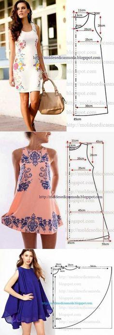 Платья. Простые выкройки | Уме