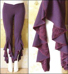 Tribal Belly Dance Pants Purple