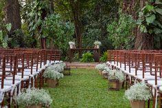 decoração de casamento rústica no campo
