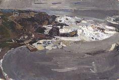 "Joan Kathleen Harding Eardley, ""Winter Sea IV"", Oil on board, x cm, Collection: Aberdeen Art Gallery & Museums Seascape Paintings, Your Paintings, Landscape Paintings, Landscapes, Collages, Aberdeen Art Gallery, Costa, Gallery Of Modern Art, Art Uk"