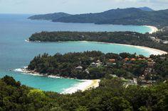 Overlooking Kata and Karon Beaches on west coast of Ko Phuket.