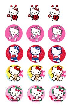 Pre Cut One Inch Bottle Cap Images Fall Thanksgiving Hello Kitty  Free Ship