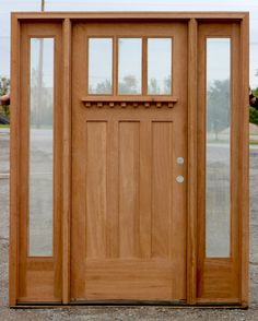 Doors: Craftsman Mahogany Wood Entry Double Door With Single Left Hand from 20 Amazing Craftsman Front Door