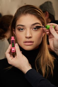 The mascara every makeup artist has in their kit: Maybelline Great Lash Mascara. This New York Fashion Week, Great Lash was a staple to the makeup look for Brock's Fall/Winter 2017 collection. This mascara classic conditions as it thickens. The lash-doubling formula glides on to build great-looking lashes while the lash-building brush makes it easy to get a full-lash look.