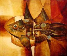 Alfredo Sinclair - Peces - Arte Panamá - Informacion de la Obra