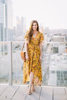 Vestido fresco amarillo
