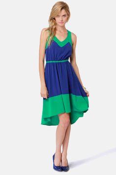 Lucy Love Estelle Dress - Blue Dress - Green Dress - $85.00