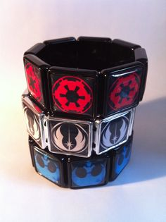 Red Imperial Choose Your Side Star Wars Bracelet by madmynx