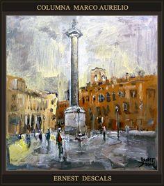 Ernest Descals.Artista Pintor: ROMA-PINTURA-CAFFÉ GRECO-PANTEON DE AGRIPA-COLUMNA...