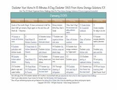 Free printable January 2015 declutter calendar with 15 minute daily decluttering missions {on Home Storage Solutions 101}