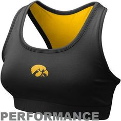 Nike Iowa Hawkeyes Ladies Black Performance Sports Bra  Price: $29.95