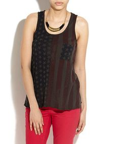 Only Charcoal Stars And Stripes Tank Top -- so cute for the 4th of July!!