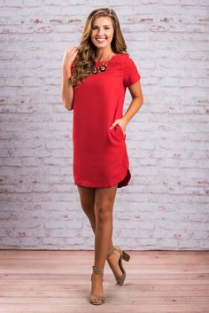 """""""Calm and Collected Dress, Red""""This fab red dress will have you looking cute, calm and collected! But then again, when you look this good what is there to get worked up about?! #newarrivals #shopthemint"""