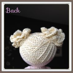 Amigurumi doll hair part 2 - free pattern from Sheila Driesen.