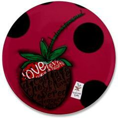 "Chocolate Covered 3.5"" Button> HAPPINESS RUSH"