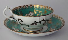 Bone china teacup and saucer