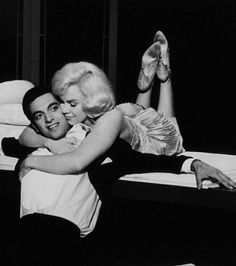 "Frankie Vaughan and Marilyn on the set of ""Let's Make Love"", 1960."