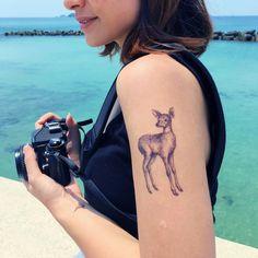 deer tattoo art deer temporary tattoo tiny floral tattoo tiny