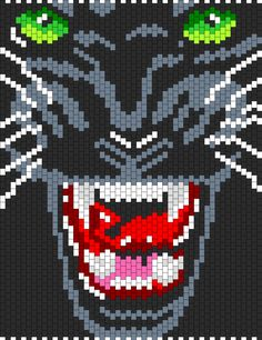 Black Panther bead pattern. Okay. Needing this in my life! Peyote is starting to take ova!
