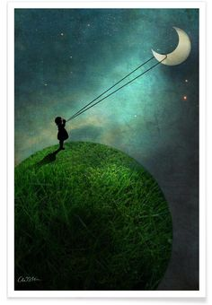 Chasing The Moon - Catrin Welz-Stein - Premium poster