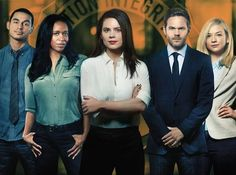 Hayley Atwell, Shawn Ashmore, Merrin Dungey, Manny Montana & Emily Kinney in Conviction Photo: ABC