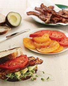 Bacon, Avocado and Tomato Sandwich