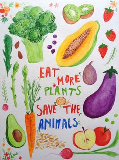 Save the animals. Help the environment. Be healthy.