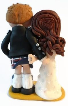Any outfits/poses are possible, handmade from scratch to look like you! NOT edible, a lifetime keepsake of the big day, I send anywhere in the world. Scottish Wedding Cakes, Indian Wedding Cakes, Unique Wedding Cakes, Handmade Wedding, Unique Weddings, Kilt Wedding, Scottish Culture, Personalized Wedding Cake Toppers, Cake Toppings