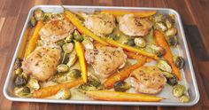 Brown Sugar, Garlic and Herb Chicken Is the Perfect One-Pan Dinner... ok I wouldn't use splenda but it sounds good otherwise :)