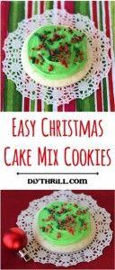 Easy Christmas Cake Mix Cookie Recipe