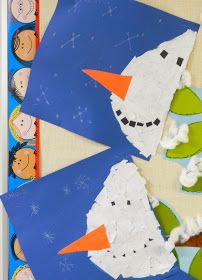 This is a cute project I'm doing with Kindergarten right now.   Snowman Banners.   Here in Calgary we just received a good dump of snow an...