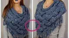 [Tuto] Poncho châle au tricotin / Point Echelle I Loom Knitting