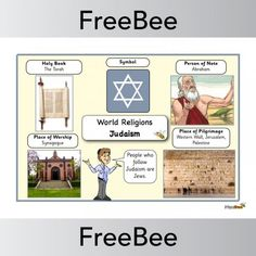 A free 'Judaism World Religions' word bank to support children's learning. Religious Symbols, Religious Education, Primary Resources, Teaching Resources, Palestine People, World Religions, Kids Writing, Place Of Worship, Judaism