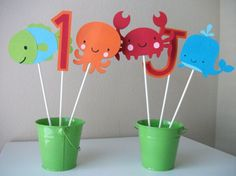 Under the Sea Birthday Party Centerpieces by sweetheartpartyshop, $10.00